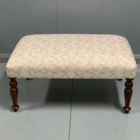 Newly upholstered Victorian footstool (4 of 5)
