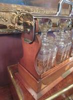 Antique Sheraton Inlaid Three Bottle Tantalus (3 of 12)