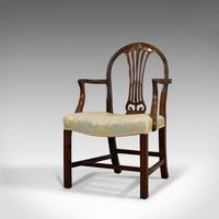 Pair of Antique Hepplewhite Revival Carvers, Mahogany, Armchair, Victorian (10 of 12)