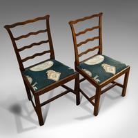 Pair of Antique Ladder Back Chairs, Irish, Mahogany, Side, Georgian c.1780 (6 of 11)