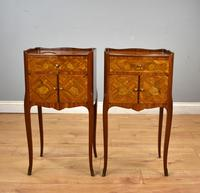 Pair of Louis XVI Style Marquetry Inlaid Bedsides Cabinets (8 of 8)