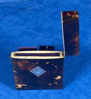 Victorian Tortoiseshell Card Case With Silver Inlay (10 of 13)