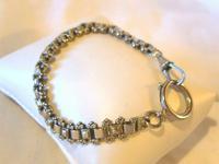 "Antique Bracelet 1890s Victorian Silver Nickel Fancy Link 7 1/2"" Length 13.6 Grams (3 of 12)"