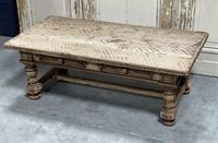 Rustic French Bleached Oak Coffee Table with 2 Drawers (6 of 19)