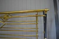 Rare Antique Victorian R.W Winfield 5ft King Size Brass & Iron Sleigh Bed (12 of 21)