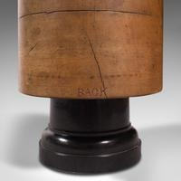 Antique Milliner's Hat Block, English, Beech, Shop Display Stand, Edwardian (10 of 12)