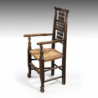 Attractive Mid 19th Century Elm Spindleback Armchair (2 of 5)