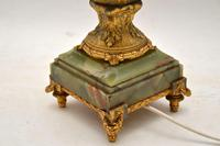 Large Antique  Gilt Metal Flagon Lamp (7 of 10)
