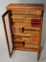 Late 19th Century Oak Two Door Bookcase (5 of 6)
