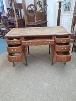 Edwardian Leather Top Desk (6 of 7)