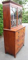 1880 Mahogany Secretaire Bookcase (4 of 5)