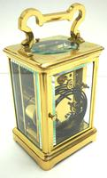Large Classic Antique French 8-day Gong Striking Repeating Carriage Clock c.1880 (6 of 10)