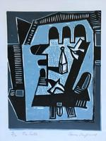 original screen print 'The Castle' by Toby Horne Shepherd 1909-1993. Signed and number 4/12. C.1965