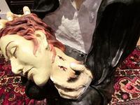 Huge Old Fairground Dracula Sculpture  Ghost Train Figure (9 of 9)