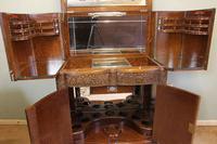 Antique Impressive Burr Oak Cocktail Drinks Cabinet (4 of 16)