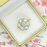 Impressive Vintage 18ct gold diamond cluster engagement ring 1.40 carat ~ With Independent Valuation (8 of 9)