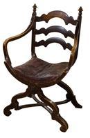 Pair of Ebonised Oak Elbow Chairs (5 of 12)