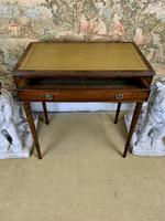 Small Mahogany Leather Topped Writing Table (4 of 5)