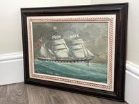 """Edwardian Watercolour """"Champion Of The Seas"""" Ship Black Ball Line Off Cape of Good Hope Signed Pierhead Artist Williams (36 of 39)"""