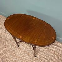 Small Edwardian Inlaid Mahogany Antique Sofa Table (3 of 9)