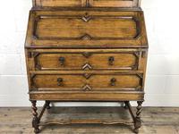 Early 20th Century Antique Oak Bureau Bookcase (6 of 17)