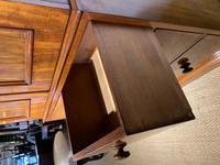 Small Victorian Mahogany Linen Press (7 of 11)