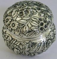 Superb Large American Sterling Silver Pot Box Tea Caddy S Kirk c.1900 (3 of 10)