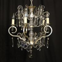 French Silver Gilded 5 Light Antique Chandelier (10 of 11)