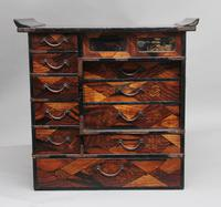 19th Century Japanese parquetry and lacquered cabinet (9 of 11)