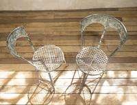 Charming Pair of Small French Metal Garden Chairs (13 of 13)