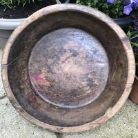 Early 19th Century Dough or Dairy Bowl