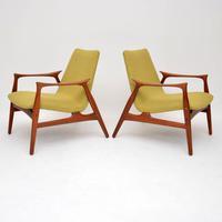 Pair of Danish Teak Armchairs by Arne  Hovmand-Olsen for Mogens Kold (13 of 14)
