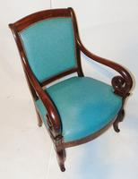Pair French Empire mahogany elbow chairs (7 of 9)