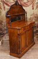 Victorian Chiffonier Sideboard Antique Mahogany c.1860 (4 of 8)