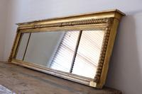 Gilt Framed Three Section Overmantle Mirror (13 of 19)