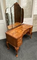 Stylish Burr Walnut Queen Anne Dressing Table (10 of 14)