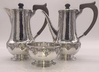 Silver Coffee Set by Arts and Crafts Silversmith A E Jones 1919 (2 of 12)