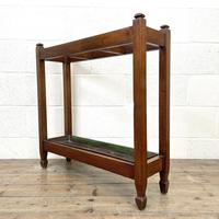 Antique Mahogany Three Section Stick Stand (2 of 8)