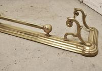 Large Victorian Art Nouveau Brass Fender (5 of 5)