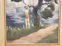 "Watercolour ""Bathers"", by Joseph Smedley (4 of 6)"