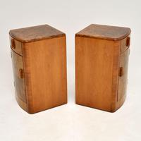 Pair of Art Deco Figured  Walnut Bedside Cabinets (7 of 10)