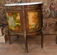 French Painted Commode Vernis Martin Antique Chest c.1920 (3 of 5)
