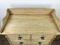 Victorian Antique Pine Chest of Drawers with Gallery Back (4 of 10)