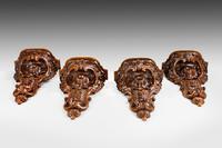 Set of Four 19th Century Walnut Brackets (2 of 6)