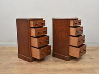 Pair of Victorian mahogany bedside chests of drawers (2 of 4)