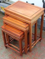 Mahogany Nest of 4 Tables 1940's (3 of 6)