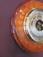 Edwardian Antique Fruitwood Inlaid Barometer (5 of 7)