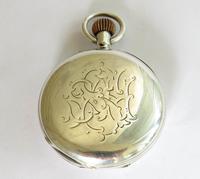 Antique Silver English Half Hunter Pocket Watch (3 of 5)