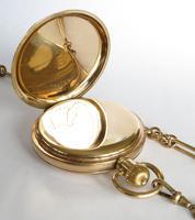 Antique Waltham Traveler Half Hunter Pocket Watch & Chain (4 of 6)