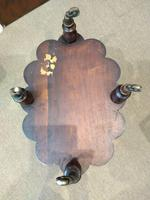 Oval 2 Tier Rosewood Lamp Table (4 of 5)
